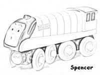 200x150 Spencer Coloring Pages, Thomas Coloring Pages