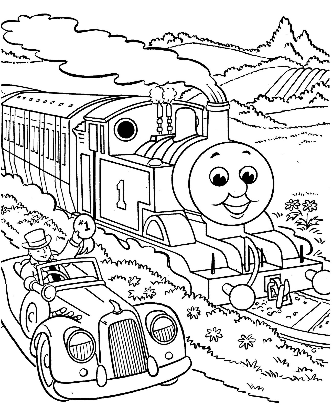 1297x1600 Thomas And Friends Coloring Pages Thomas And Friends Coloring