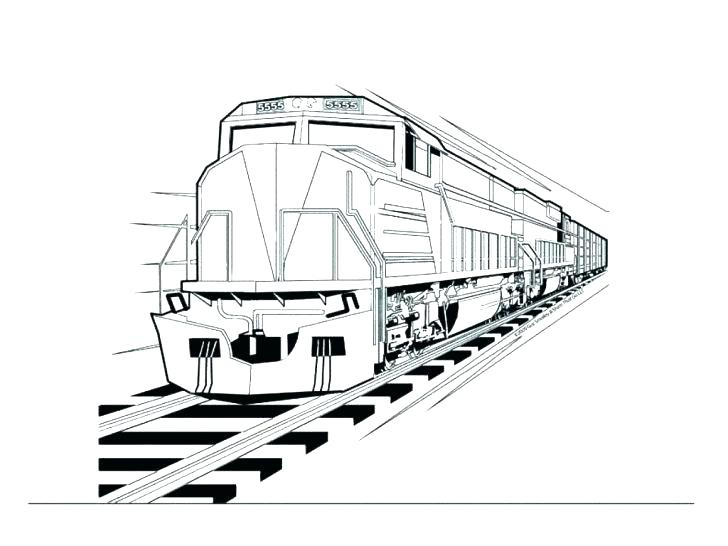 728x546 Train Coloring Pictures