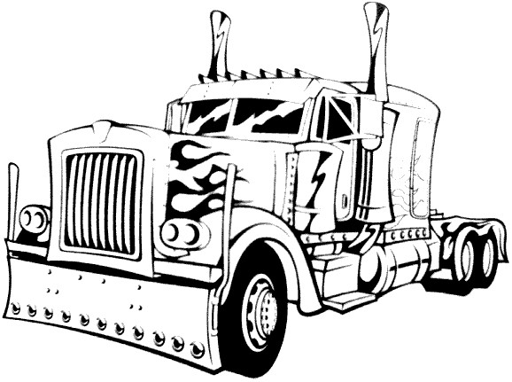 Diesel Truck Coloring Pages At Getdrawings Com