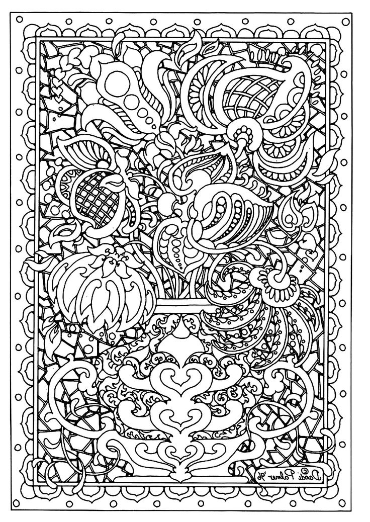 Difficult Abstract Coloring Pages