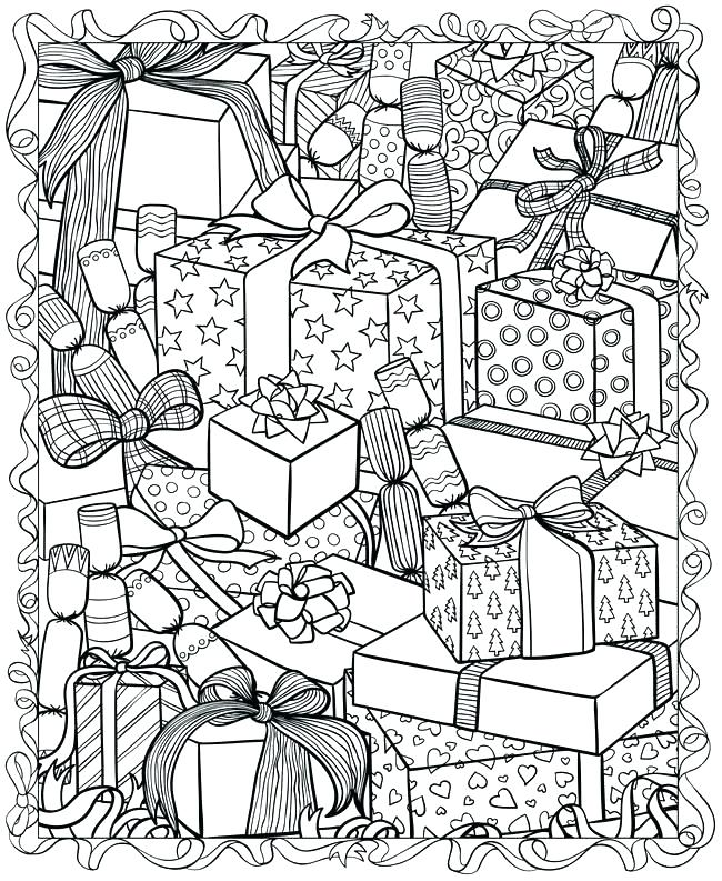 650x793 Difficult Christmas Coloring Pages Free Printable Difficult