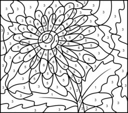 Difficult Color By Number Coloring Pages For Adults At Getdrawings