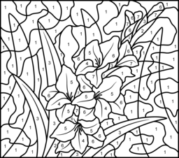 256x226 Flowers Coloring Online
