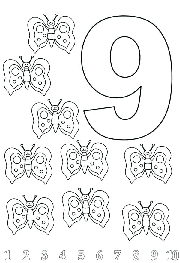 600x874 Number Coloring Pages Color