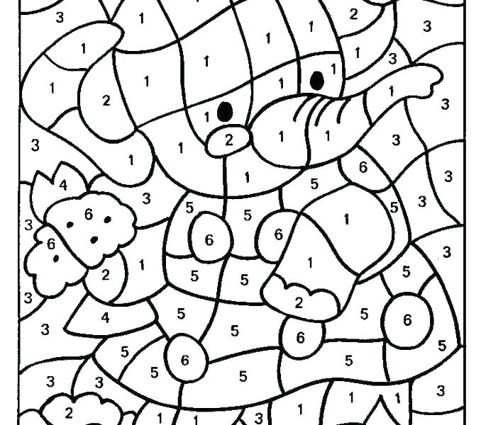 678x600 Printable Number Coloring Pages Color