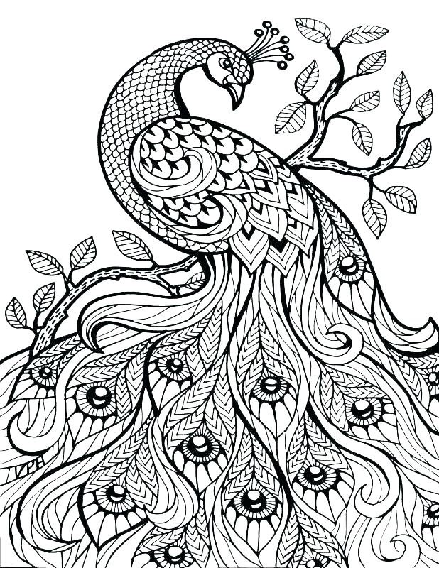 Difficult Color By Number Coloring Pages For Adults at ...