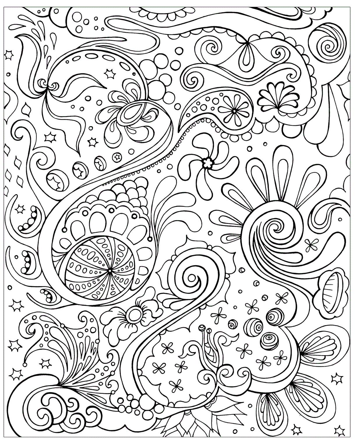 1239x1512 Free Difficult Coloring Pages For Adults