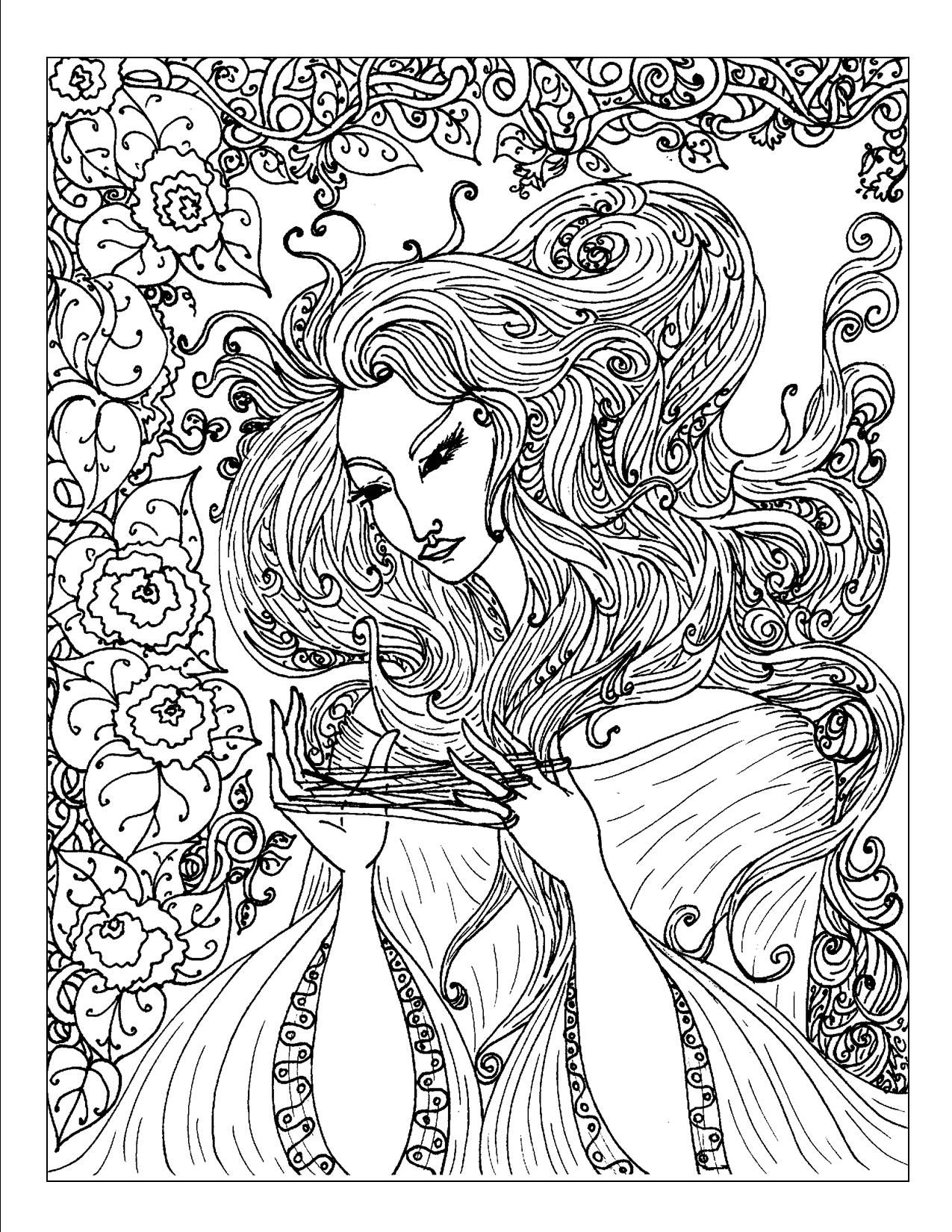 1275x1650 Surprising Difficult Adult Coloring Pages Printable With Free