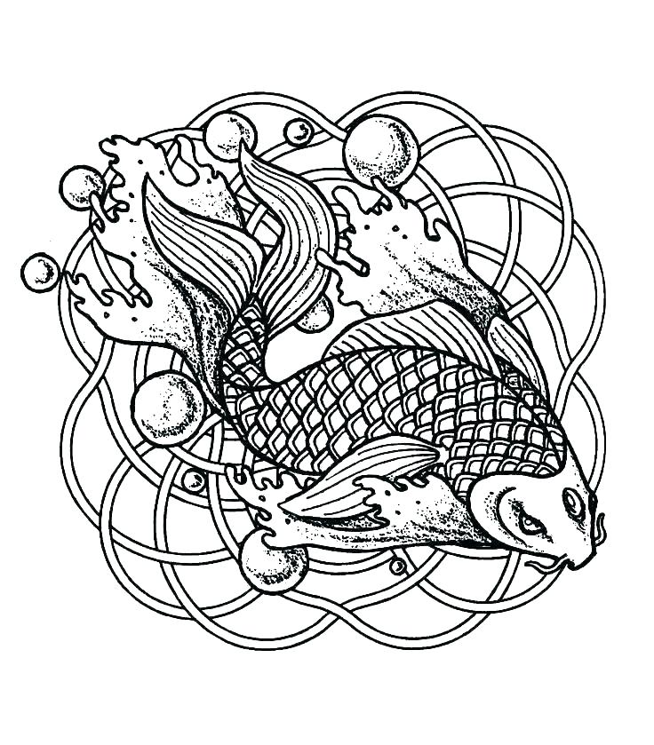 736x839 Difficult Coloring Pages