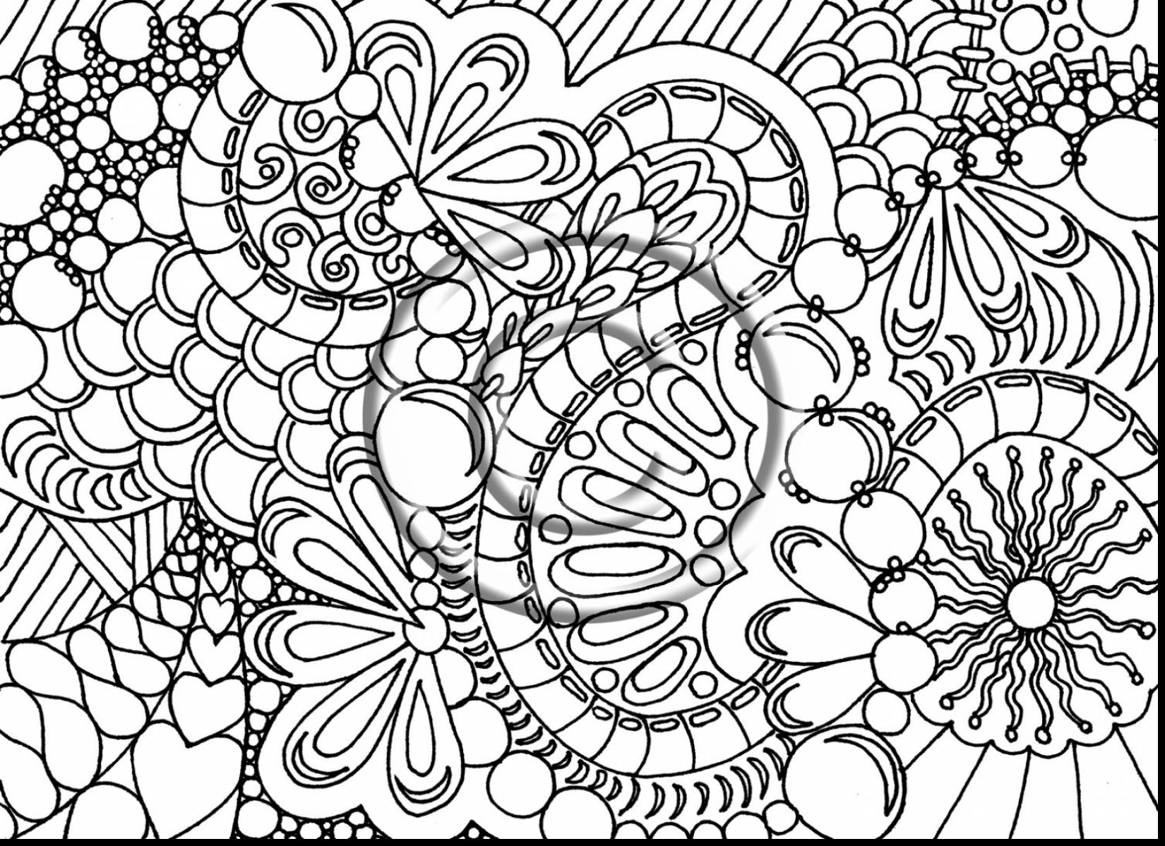1650x1199 Cool Adult Coloring Pages With Hard Detail Of Abstract Printable