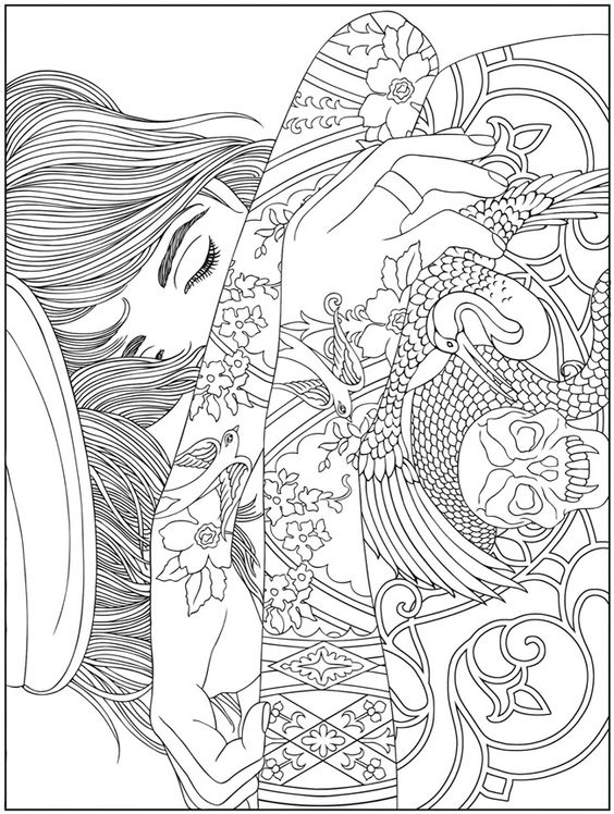 564x748 Difficult Coloring Book