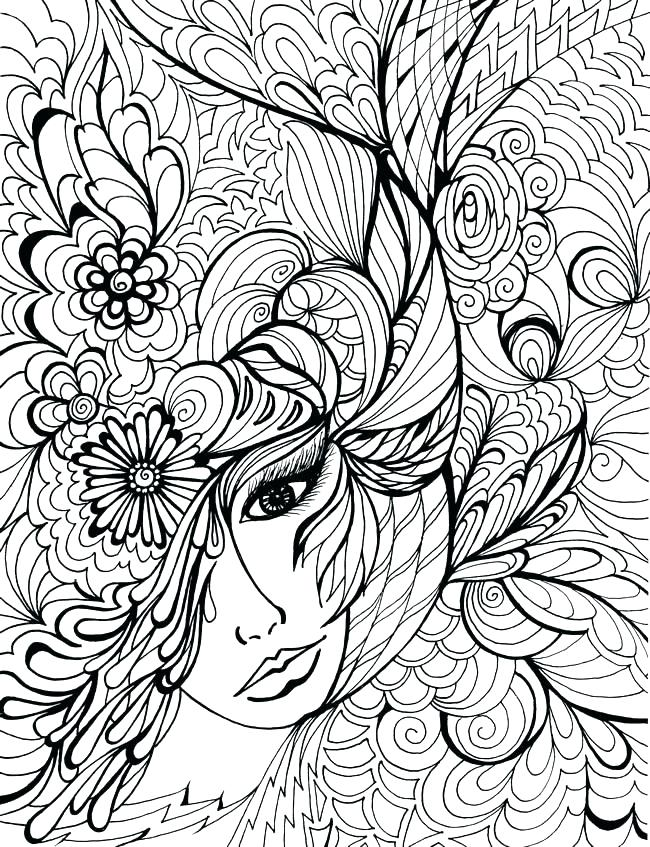 650x847 Difficult Coloring Page Difficult Coloring Pages Free Difficult