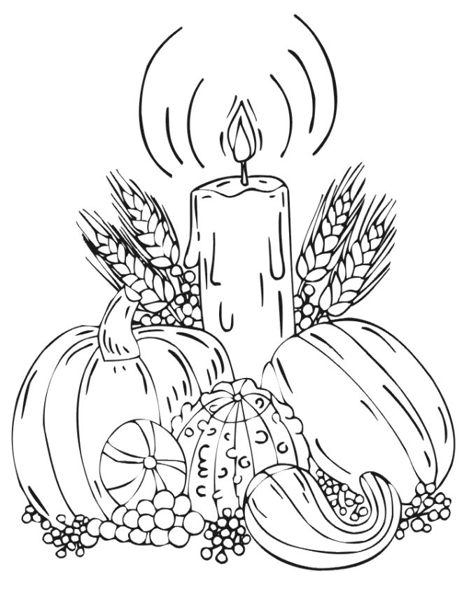 Difficult Fall Coloring Pages