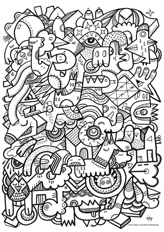 640x905 Difficult Coloring Pages To Print
