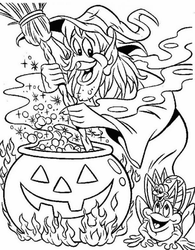 650x830 Difficult Halloween Coloring Pages Preschool For Cure Draw Pict