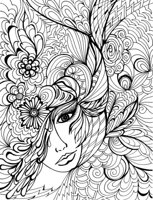520x678 Printable Difficult Coloring Pages Hostingview Info Within Hard