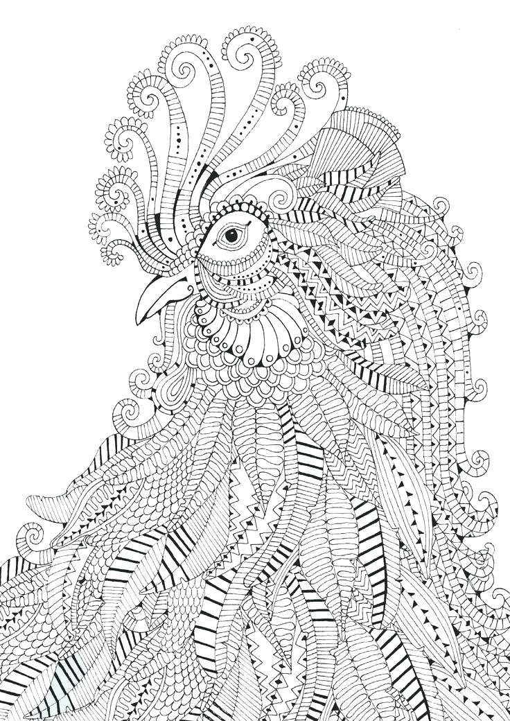 736x1040 Printable Difficult Coloring Pages