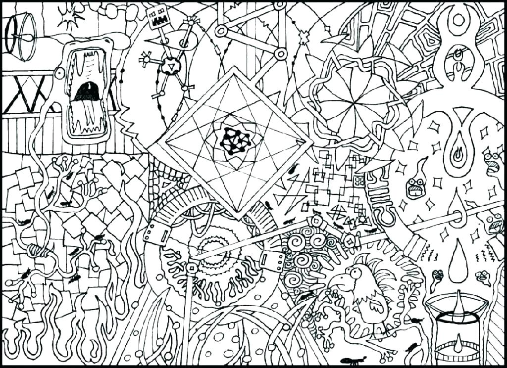 1024x744 Hard Coloring Pages Printable Free Tayar Site