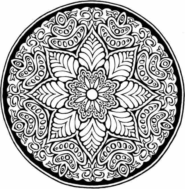 650x662 Mandala Pattern Coloring Pages Difficult Mandala Coloring Pages