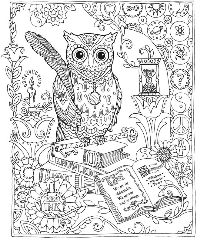 650x789 Coloring Pages For Adults Difficult Owls Color Bros