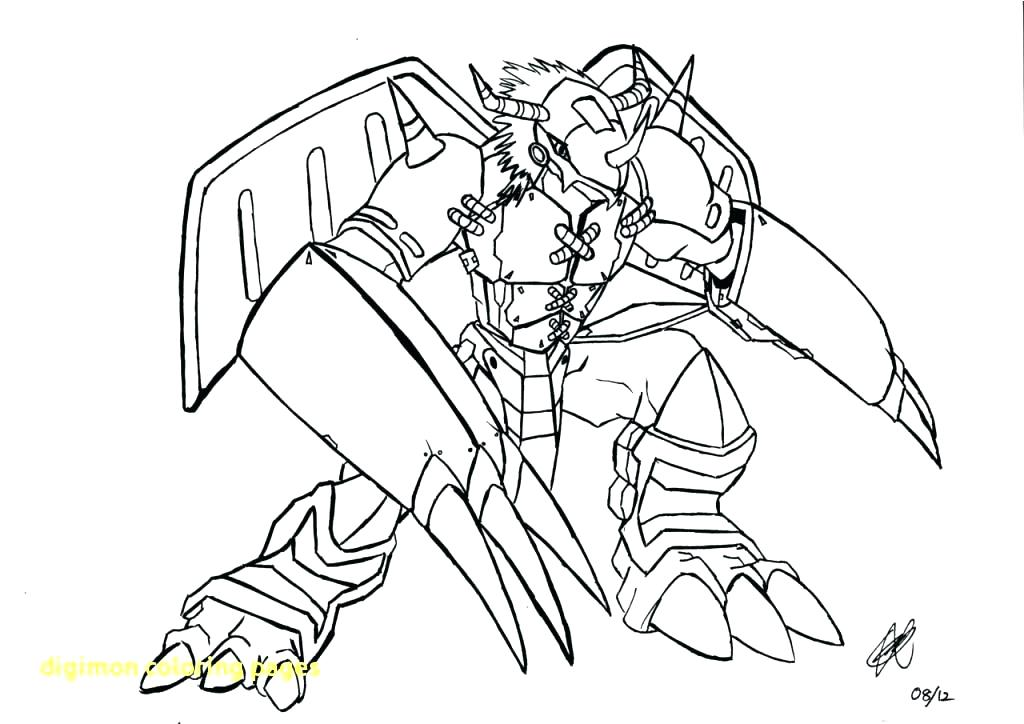 1024x724 Digimon Coloring Pages Free Printable