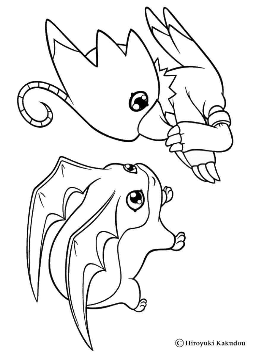 872x1200 Digimon Coloring Pages