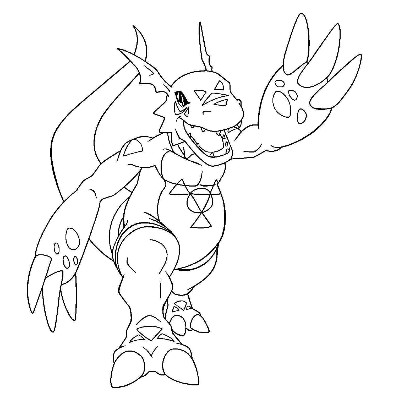 1500x1500 Best Of Digimon Coloring Pages Logo And Design Ideas