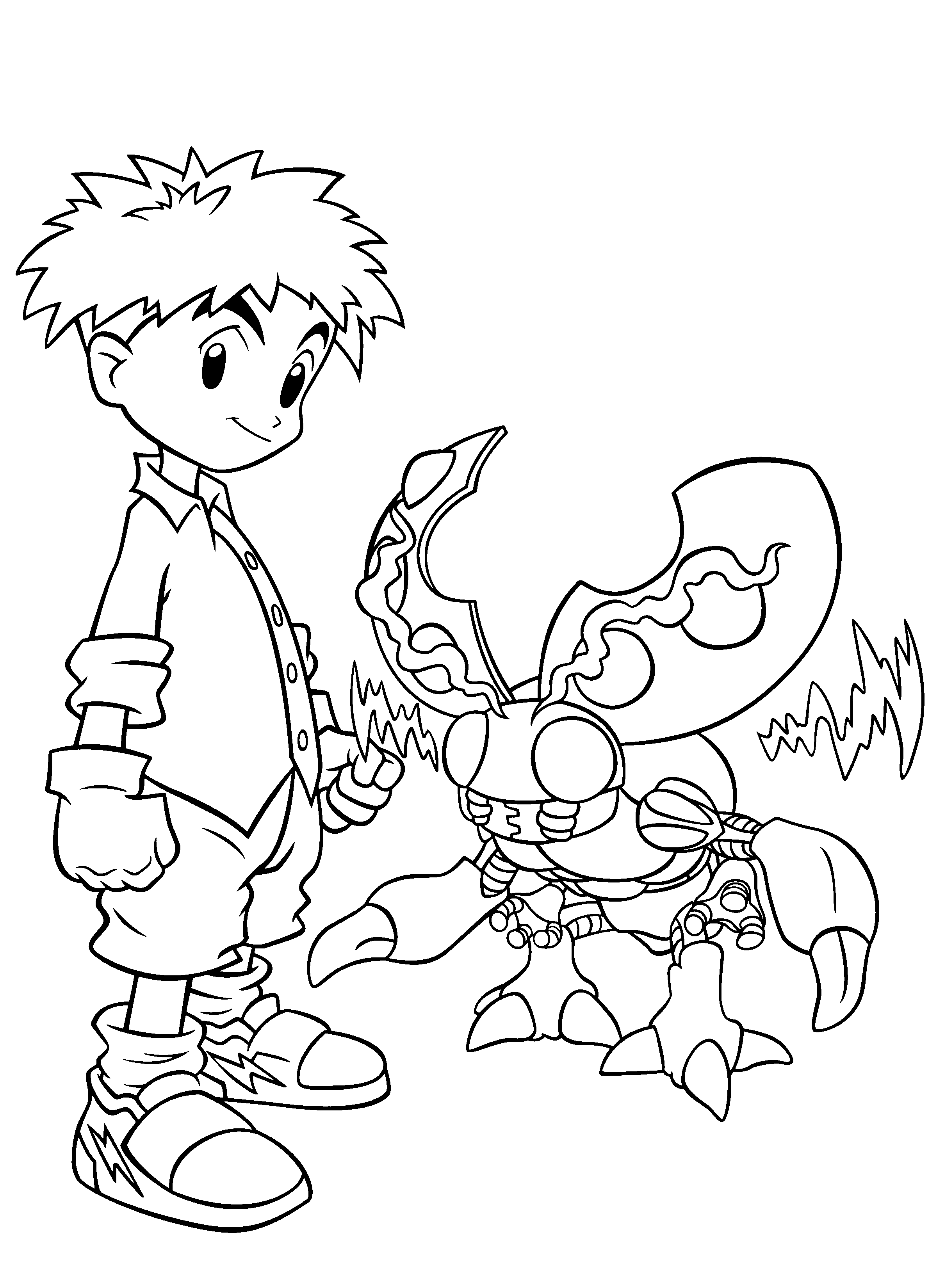 2400x3300 Free Printable Digimon Coloring Pages For Kids
