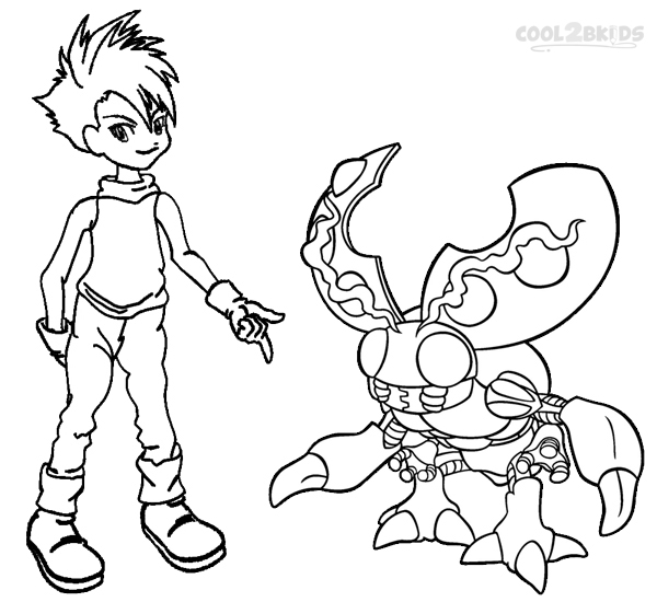 600x550 Printable Digimon Coloring Pages For Kids
