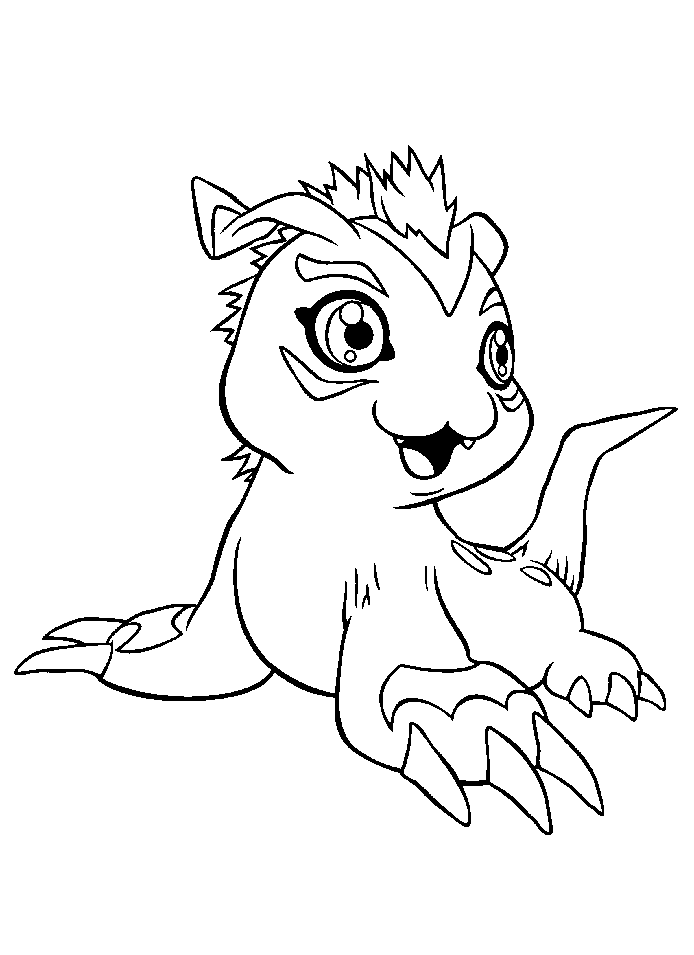 2400x3300 Coloring Page Tv Series Coloring Page Digimon