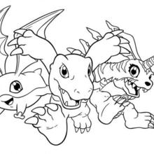 220x220 Digimon Coloring Pages