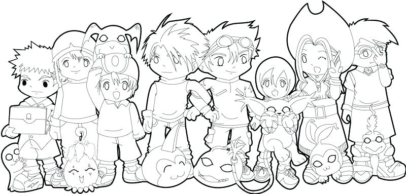 800x383 Digimon Coloring Page Coloring Pages Tamers Coloring Pages Free