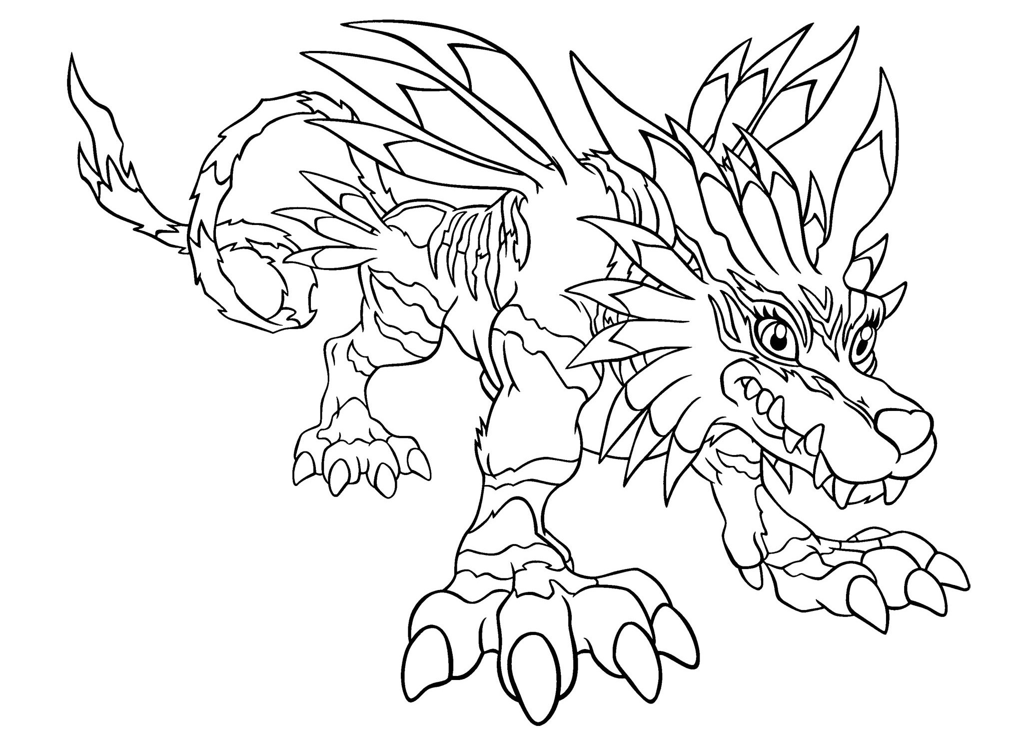 2063x1500 Digital Coloring Pages Beautiful Digimon Digital Monsters Coloring