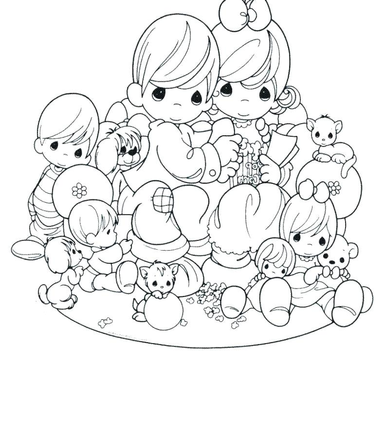 791x900 Digital Coloring Pages Precious Moments Coloring Page To Download