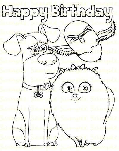 400x505 Digital Coloring Pages Secret Life Of Pets Coloring Book Digital