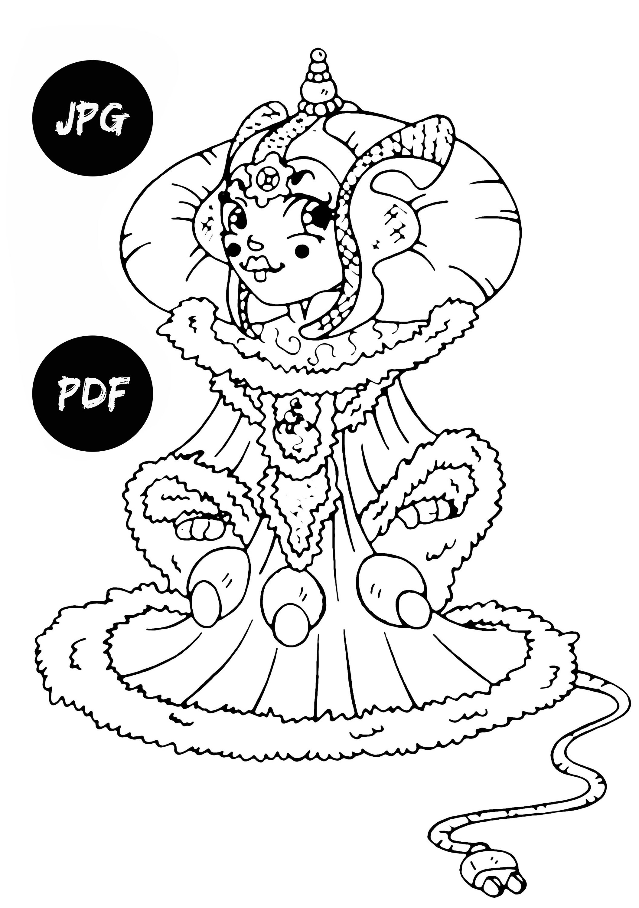 2113x3000 Queen Amidala Coloring Pages Kids Digital Coloring Pages
