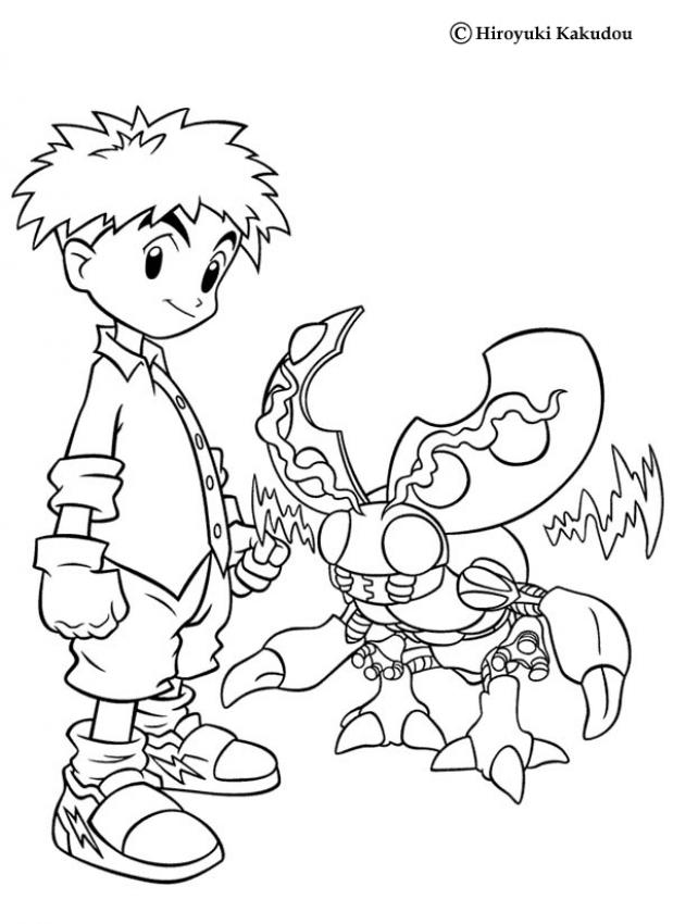619x850 Digimon Coloring Pages