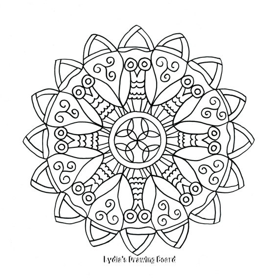 570x570 Digital Coloring Pages