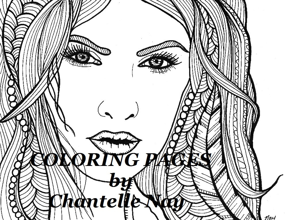 990x765 Morgana Coloring Page Woman Face Adult Coloring Picture