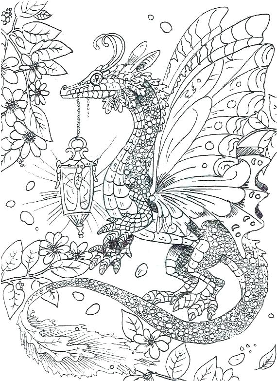 570x782 Coloring Page Dragon