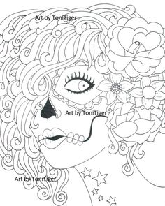 236x295 Adult Coloring Page, Instant Digital Download Page Girl