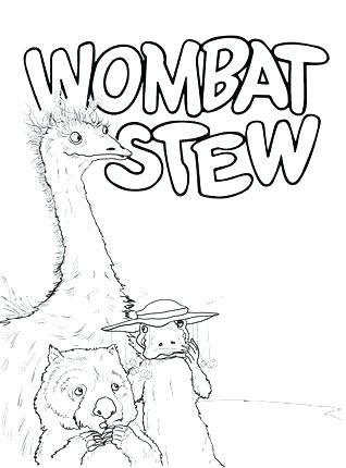 318x430 Dingo And Wombat In A Pot Coloring Page Alphabet Pages Printable