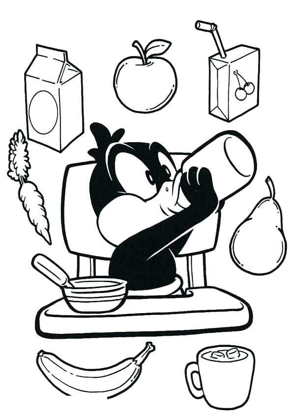 600x840 Breakfast Coloring Pages Breakfast On Kitchen Table Coloring Pages