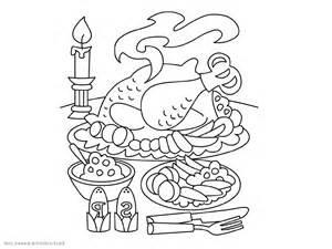 300x225 Dinner Coloring Pages