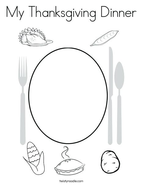 468x605 Thanksgiving Dinner Coloring Pages My Thanksgiving Dinner Coloring