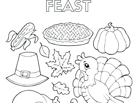 440x330 Thanksgiving Dinner Coloring Pages Thanksgiving Dinner Coloring