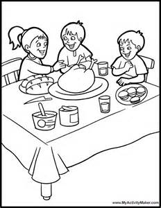 232x300 Dinner Coloring Pages