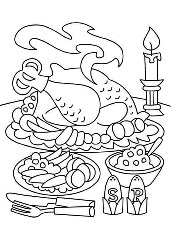 595x842 Best Thanksgiving Coloring Pages Images