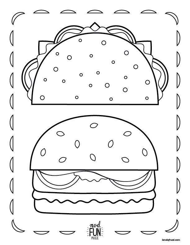 612x792 Free Printable Coloring Page Mealtime Favorites Free Printable